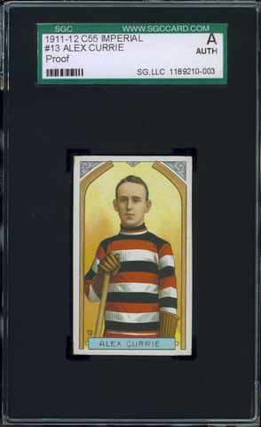 Alex Currie Hockey Card #13 - Proof - Imperial Tobacco - 1911
