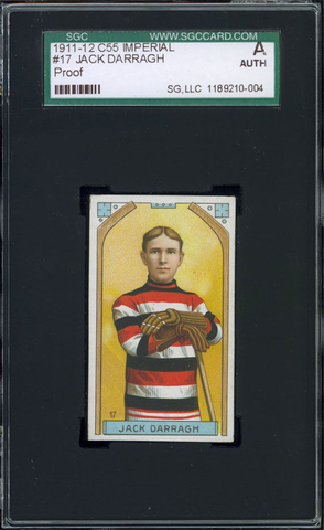 Jack Darragh Hockey Card #17 - Proof - Imperial Tobacco - 1911