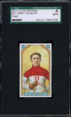 Larry Gilmour Hockey Card #22 - Proof - Imperial Tobacco - 1911