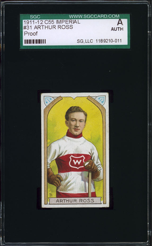 Arthur Ross Hockey Card #31 - Proof - Imperial Tobacco - 1911