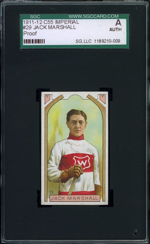 Jack Marshall Hockey Card #29 - Proof - Imperial Tobacco - 1911