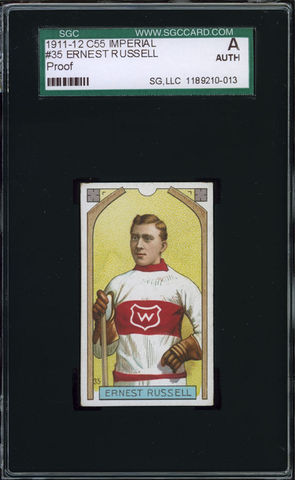 Ernest Russell Hockey Card #35 - Proof - Imperial Tobacco - 1911
