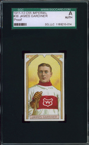James Gardiner Hockey Card #36 - Proof - Imperial Tobacco - 1911