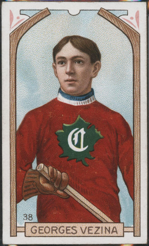 Georges Vezina Hockey Card #38 - Proof - Imperial Tobacco - 1911