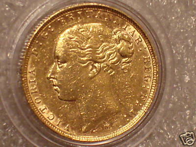 Coin 1885 Gold Full Sovereign Hg Collection