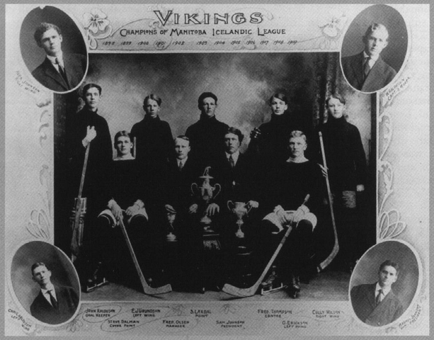 Winnipeg Vikings - Champions of Manitoba Icelandic League 1909