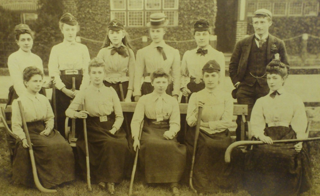 Oldest Women's Field Hockey Photo - East Molesey LHC - 1891