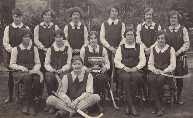 Perse School For Girls First Hockey Team - 1929 Champions