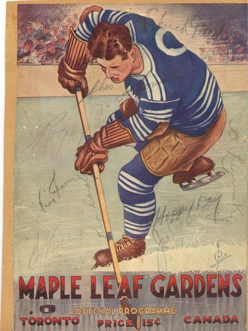 1933 Toronto Maple Leafs Program - Maple Leaf Gardens