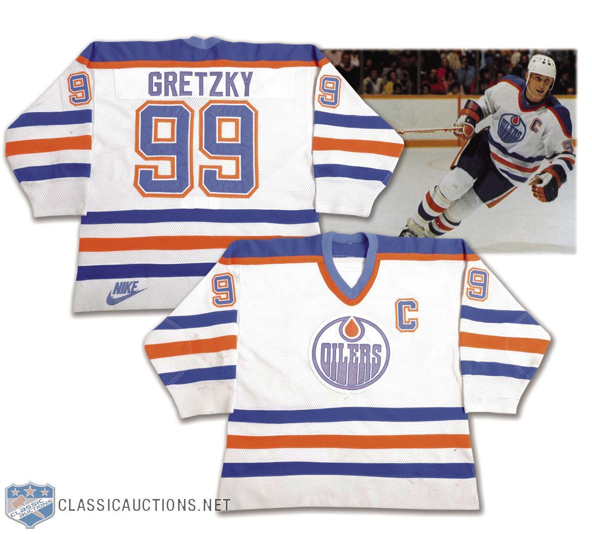 online store 27462 a6a46 Wayne Gretzky's 1985-86 Edmonton Oilers Captains Playoffs ...