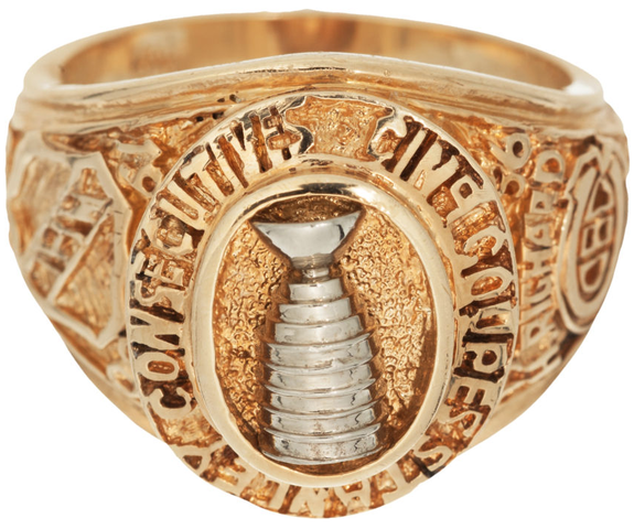 Stanley cup ring presented to henri richard 1960