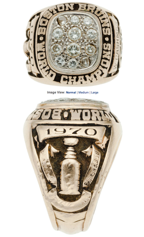 Boston Bruins Stanley Cup Ring Presented to Wayne Cashman - 1970