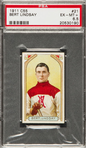 Bert Lindsay Hockey Card - C55 Imperial Tobacco - 1911 - PSA 6.5