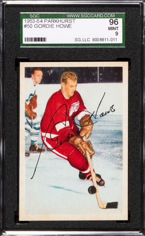 Gordie Howe Hockey Card - Parkhurst - #50 - 1953 - SGC 96 Mint 9