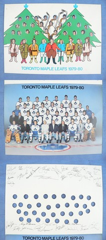 Toronto Maple Leafs Christmas Card - 1979