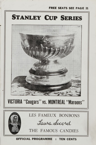 1926 Stanley Cup Program - Victoria Cougars Vs. Montreal Maroons