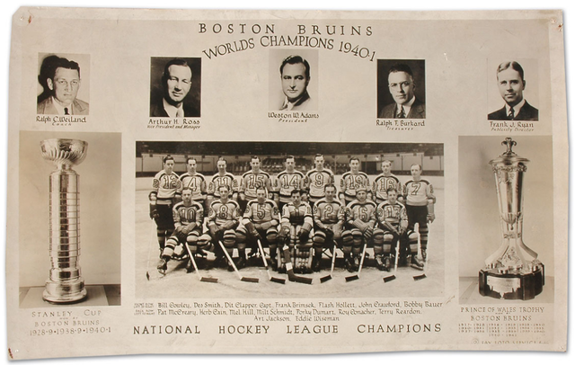 Boston Bruins - Stanley Cup Champions - 1941