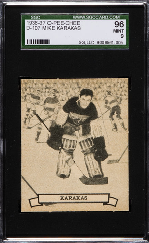 Mike Karakas Hockey Card - O Pee Chee - Series D No 107 - 1936