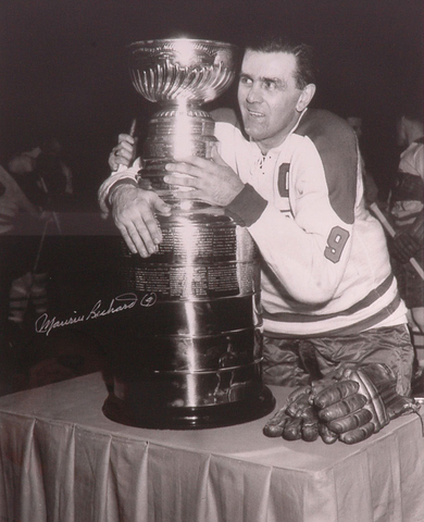 Rocket Richard / Maurice Richard Hugging The Stanley Cup - 1960
