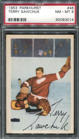 Terry Sawchuk Hockey Card - No 46 - Parkhurst - 1953