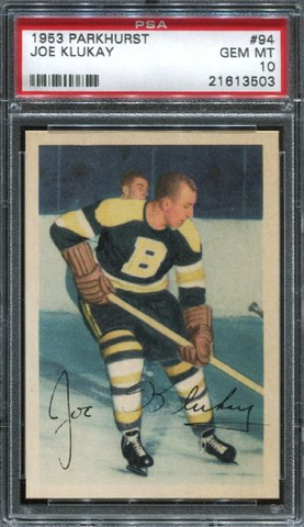 Joe Klukay Hockey Card - No 94 - Parkhurst - 1953