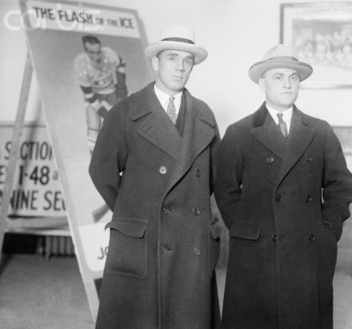 Billy Coutu & Léo Dandurand at Opening of new MSG in 1925