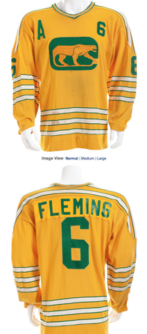 Vintage Chicago Cougars Jersey Worn by Reggie Fleming 1972-74