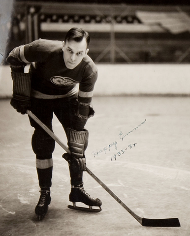 Hap Emms / Happy Emms Autograph - Detroit Red Wings - 1934