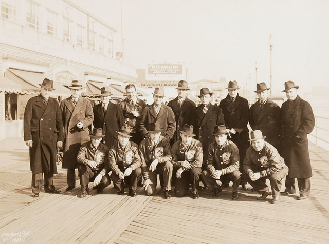 New York Americans on the Atlantic City Boardwalk - 1930s