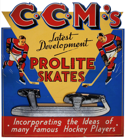 CCM Advertising Sign - Prolite Skates - 1940s