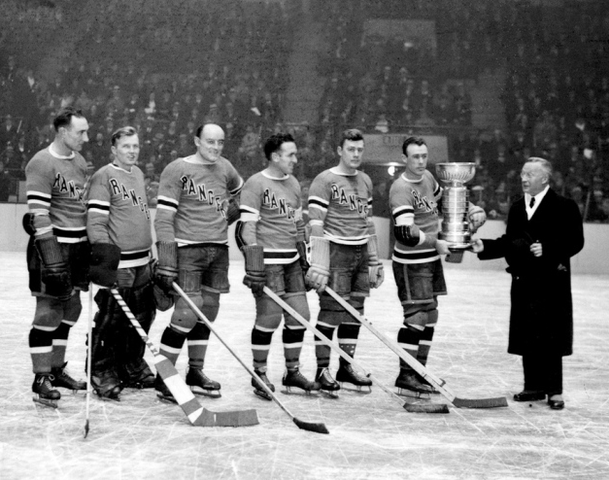 New York Rangers Presented The Stanley Cup by Frank Calder 1933
