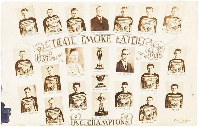 Trail Smoke Eaters - British Columbia Champions - 1938