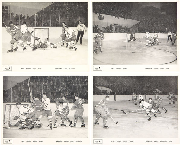 Quaker Oats Action Scene Hockey Premiums - Series A - 1951 - Set