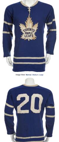 reputable site 71803 a3155 Vintage Toronto Maple Leafs Jersey worn by Bob Pulford ...