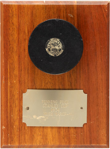 Stanley Cup Winning Goal Puck Scored by Mush March - 1934
