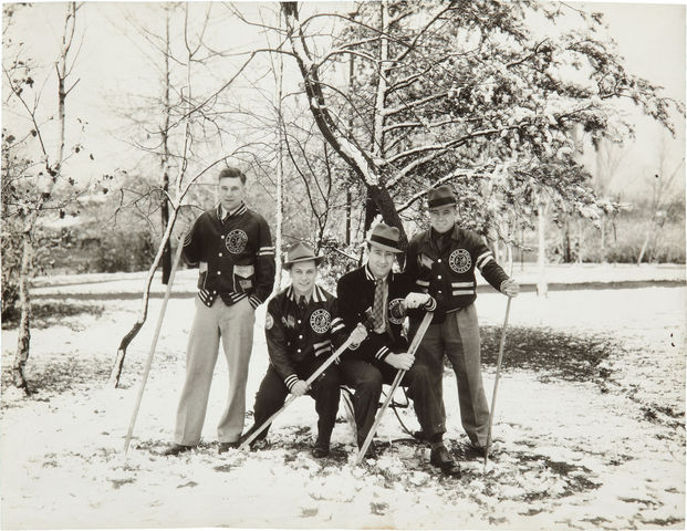 Chicago BlackHawks Players at Valparaiso Country Club circa 1934