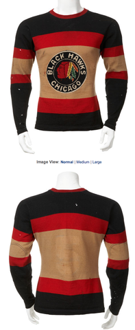 Antique Chicago Black Hawks Jersey worn by Mush March - 1936