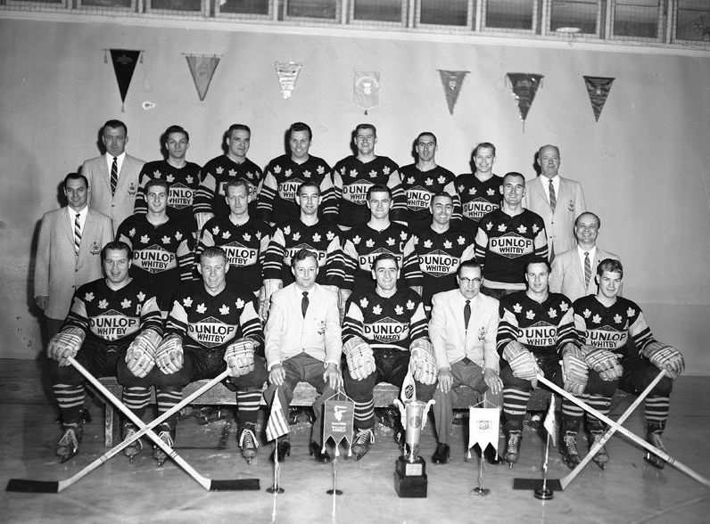 whitby dunlops iihf world ice hockey champions 1958