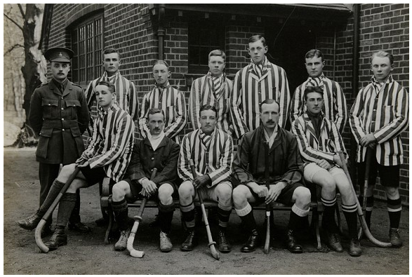 Antique Field Hockey - E Company Hockey Team - 1915