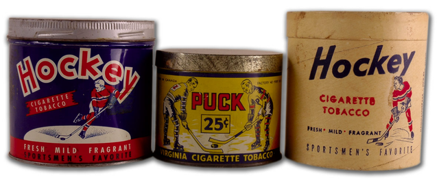 Antique Hockey Tobacco Tins