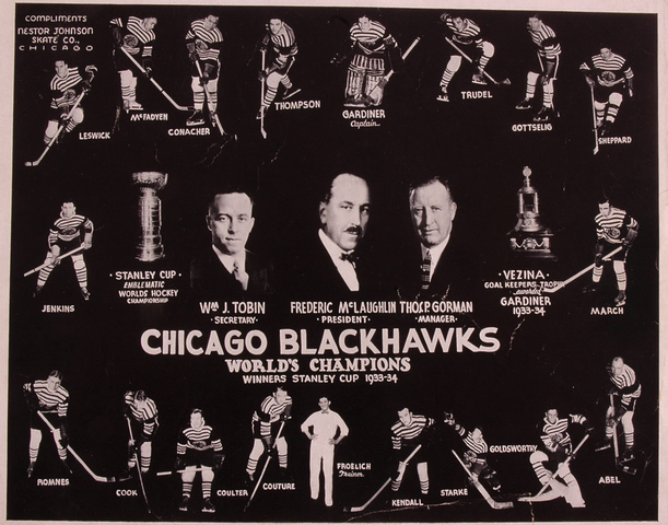 Chicago BlackHawks - Stanley Cup Champions 1934