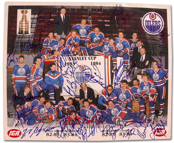 Edmonton Oilers - Stanley Cup Champions 1984 - Autographed Photo