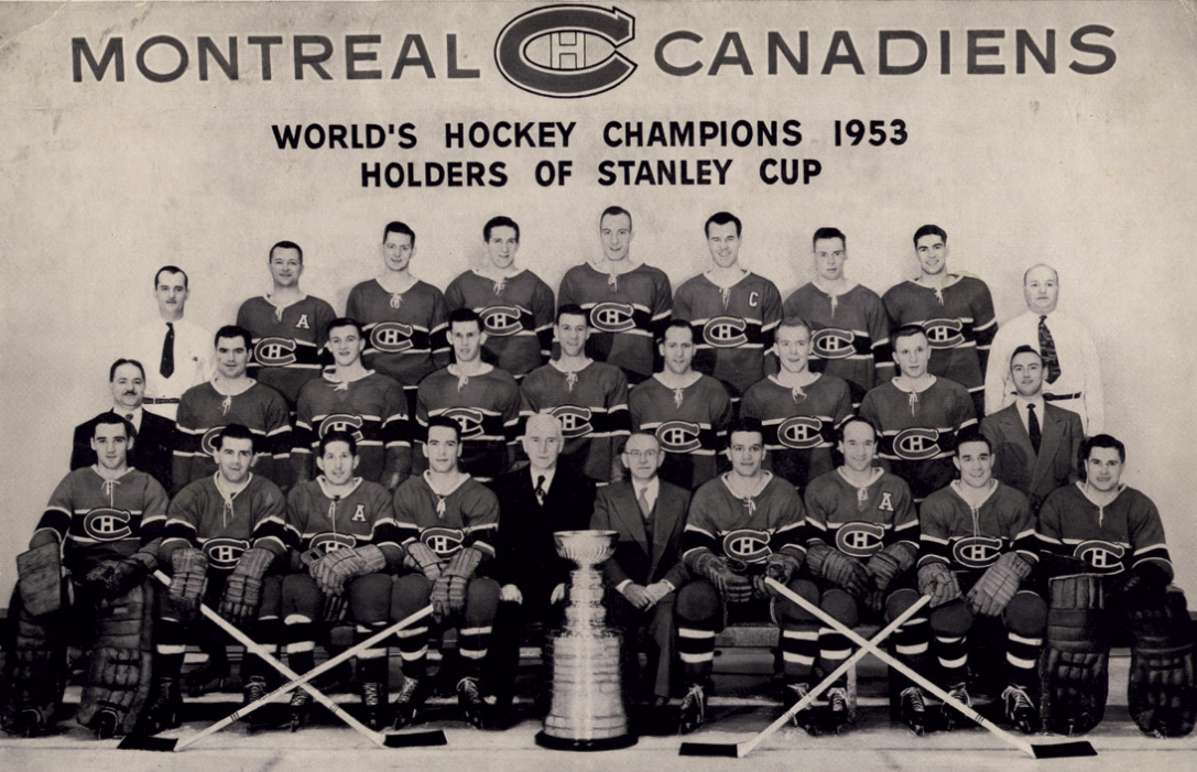 Montreal Canadiens Stanley Cup Champions 1953 Hockeygods