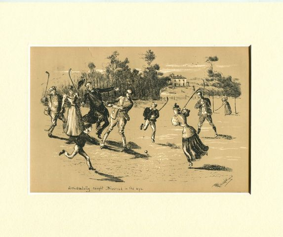 Antique Field Hockey Print - 1894