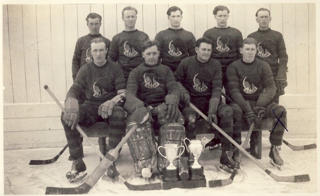 Killam Hockey Club - Champions - Alberta, Canada - 1933