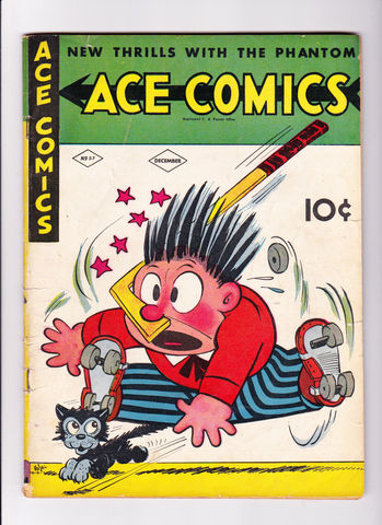 Antique Ace Comics No 57 - Roller Hockey - 1941