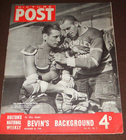 Wembley Lions Players on the cover of Picture Post - 1946