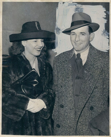 Sid Abel & wife Gloria in 1946 - Detroit Red Wings