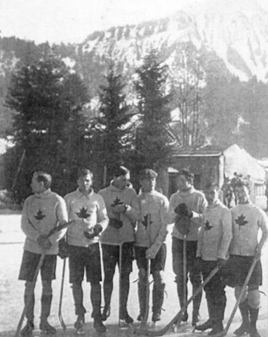 Oxford Canadians at Les Avants - European Champions - 1910