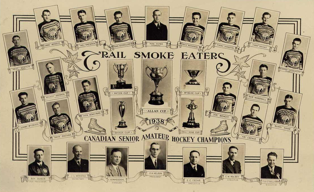 Trail Smoke Eaters - Allan Cup Champions 1938